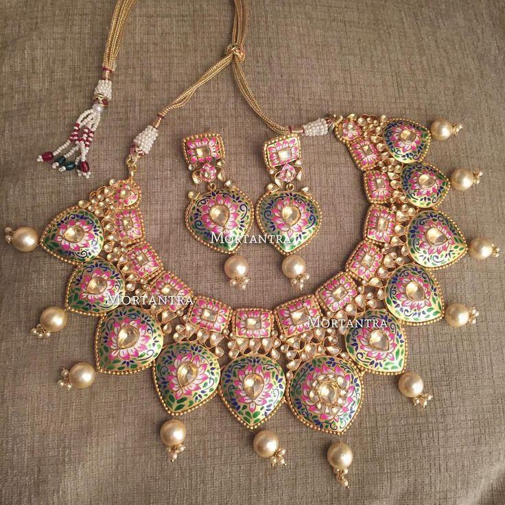 ♥♥ pretty #meenakarijewellery #mortantra