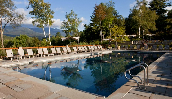 Outdoor Pool at Topnotch Resort and Spa, Stowe Vermont