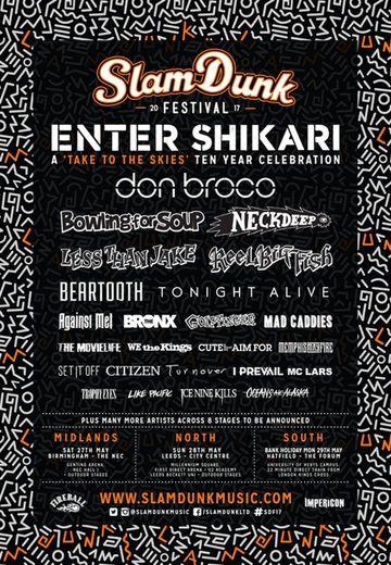 Slam Dunk Festival - 27.05.2017 Birmingham Festival - Ticket - Official Ticket Shop - Impericon.com UK