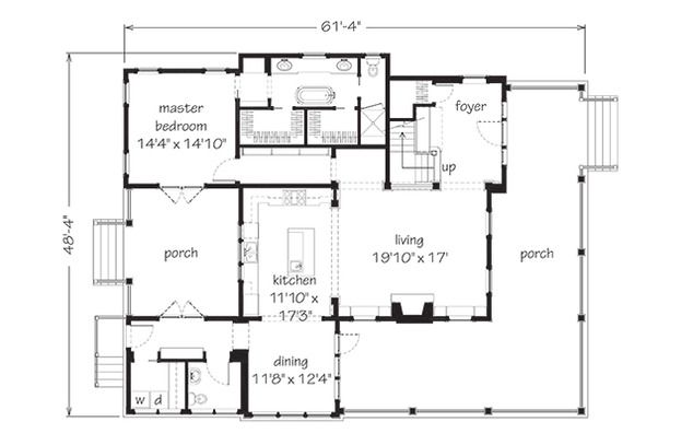 11 best house plan images on pinterest southern living for Simple southern house plans