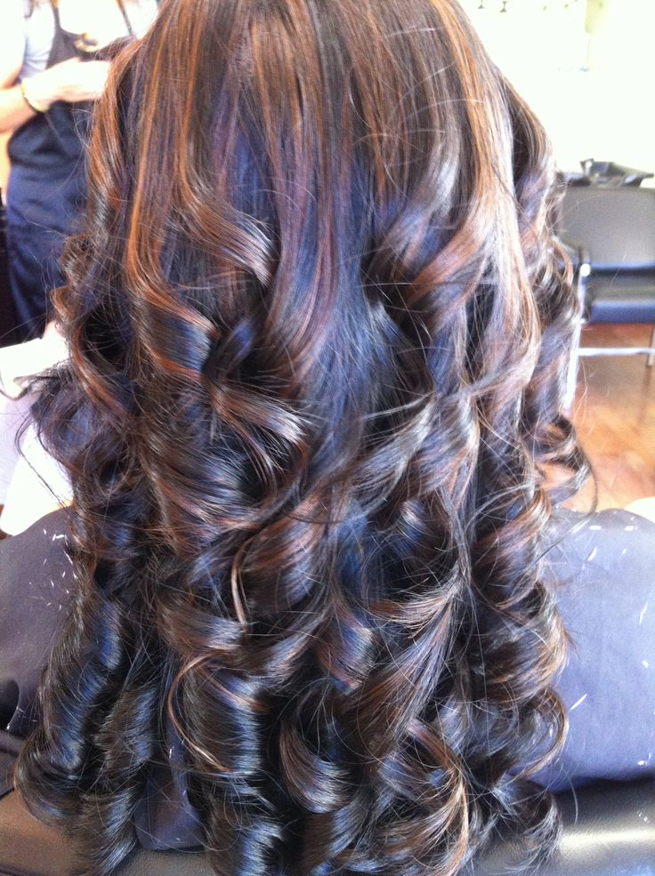 Black hair with caramel highlights pinterest crafts for 77 salon oakland