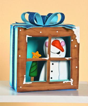 Ventanas con personajes para decorar en Navidad