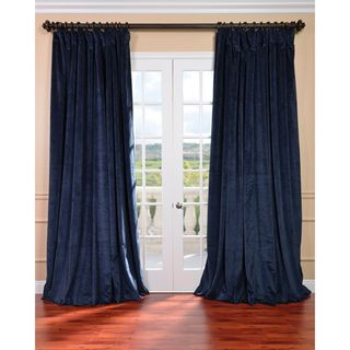 @Overstock.com - Midnight Blue Velvet Blackout Extra Wide Curtain Panel - Give your decor a sophisticated look with this 100-inch wide curtain panel. The poly velvet construction and thermal lining of this blackout panel offers durability while blocking out disruptive light. A rod pocket design allows for quick installation.  http://www.overstock.com/Home-Garden/Midnight-Blue-Velvet-Blackout-Extra-Wide-Curtain-Panel/6811700/product.html?CID=214117 $119.99