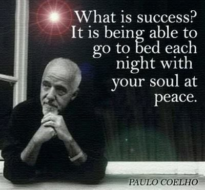 The best success in a day is going to bed with a sober mind at peace with everything that has happened, good and bad! Knowing u did everything to make it great.