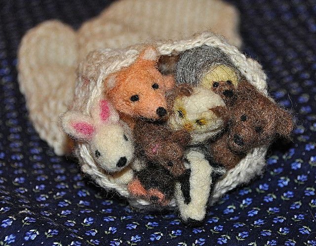 January Winter Animals Needle Felted Wool Animals