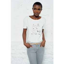 tee shirt kimaya blanc @ DES PETITS HAUTS