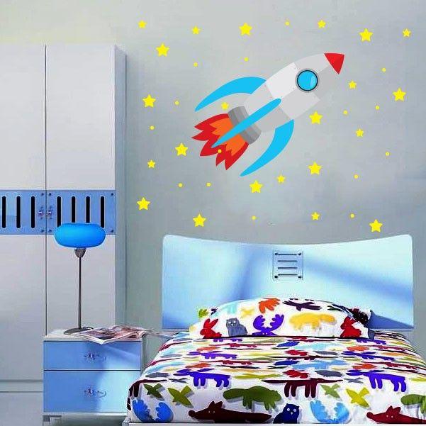 Adesivo Decorativo Para Vidro ~ Adesivo de parede infantil Foguete 2 quarto das crianças Pinterest Adesivos de parede