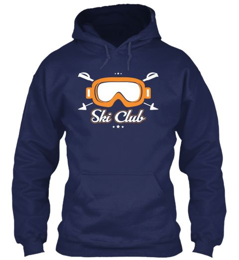 Ski Club Navy Sweatshirt Front
