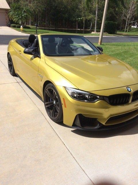 2016 Bmw M4 2016 Austin Yellow Bmw M4 Convertible Very Low Mile