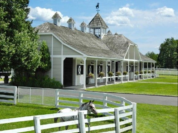 93 best images about horse barn exteriors on pinterest for Horse farm house plans