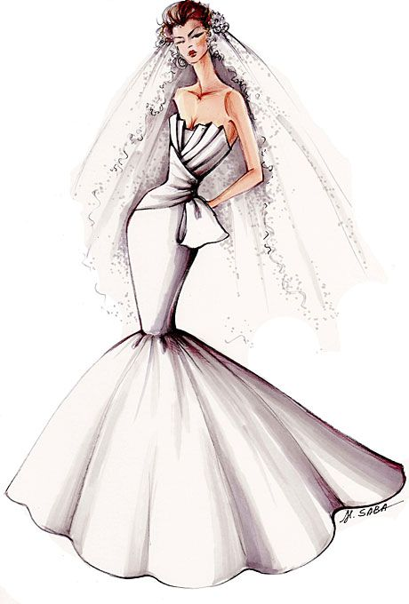 375 best Wedding Gown Sketches images on Pinterest Fashion