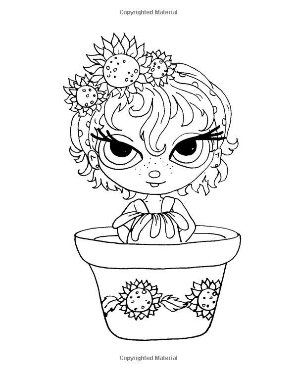 Amazon.com: Lacy Sunshine's Flower Pot Pretties Coloring Book Volume 6: Magical…