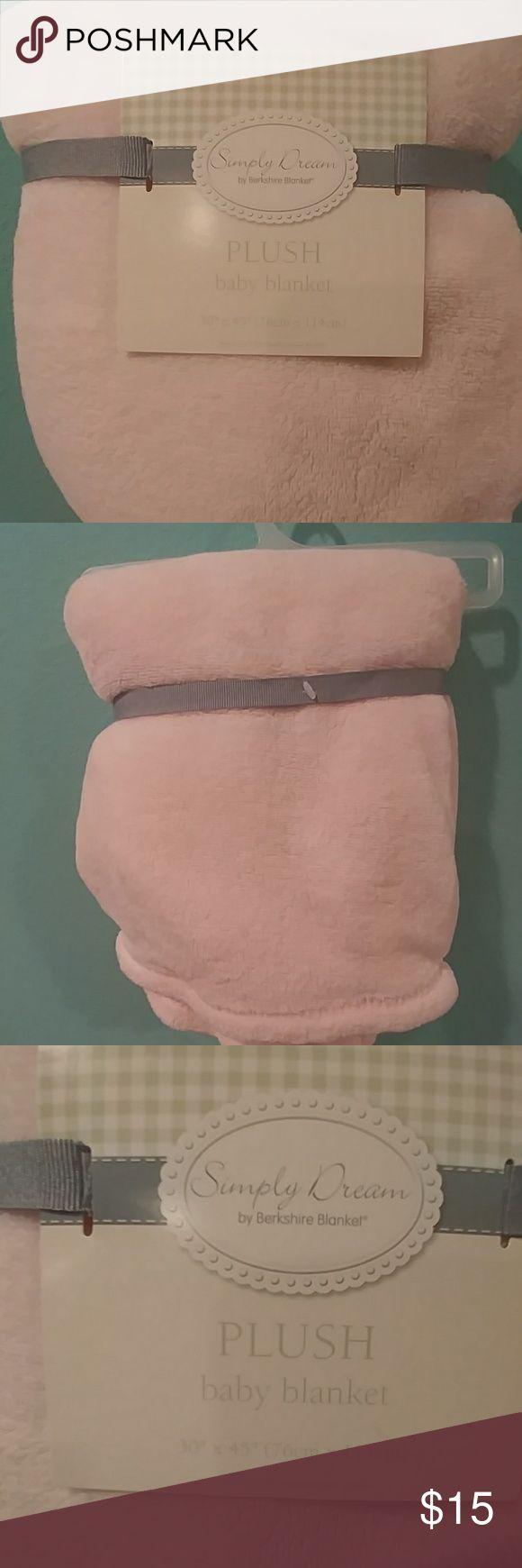 Plush light pink baby blanket by Berkshire blanket Brand new plush baby blanket Simply Dream Other