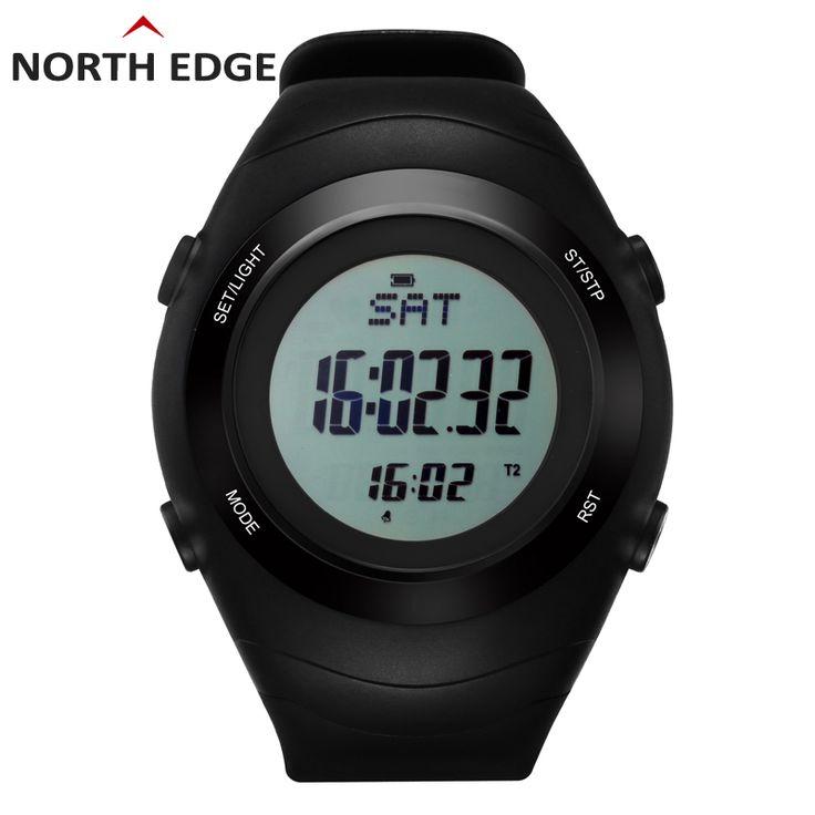US $55.44 - NorthEdge Sports watch heart rate monitor sensor Pedometer watches men running digital wristwatches outdoor men's calories