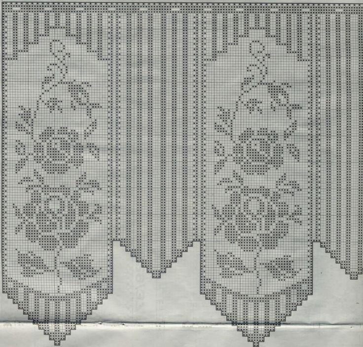 Kira scheme crochet: Curtain