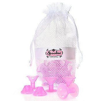 Spoolies Set of 20 Silicone Rubber Hair Curlers w/ Mesh Bag