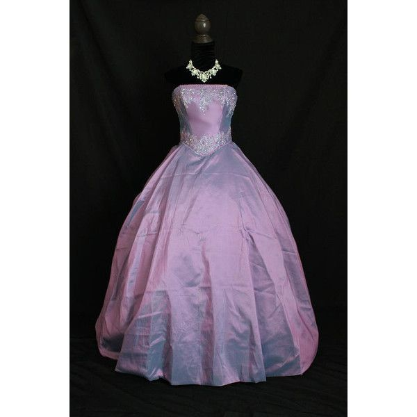 Once Upon A Time Snow White Emma Inspired Lavender Purple Ball Gown... (620 CAD) ❤ liked on Polyvore featuring costumes, dresses, once upon a time, disney, gowns, sequin costume, snow white halloween costume, snow white costume, lace costume and purple costume