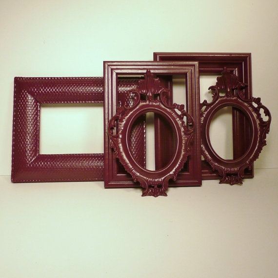 Upcycled picture frames // ornate, modern home decor