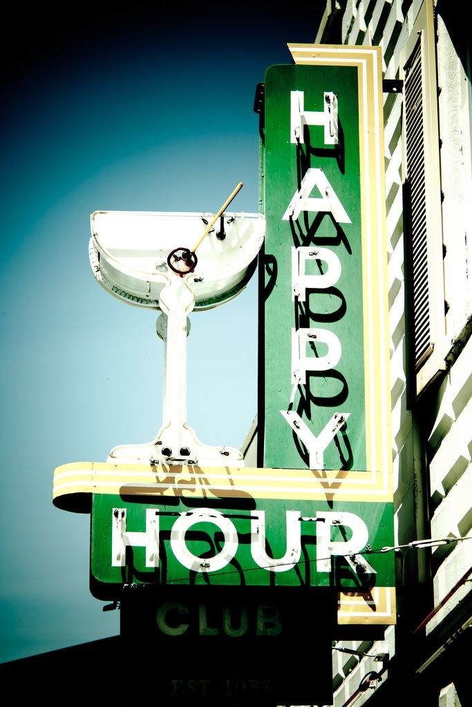 happy hour neon sign: Cocktails Hour, Hour Signs, Cocktails Time, Neon Signs, Happy Hour Sign, Vintage Signs, Happyhour, Vintage Neon, Hour Club
