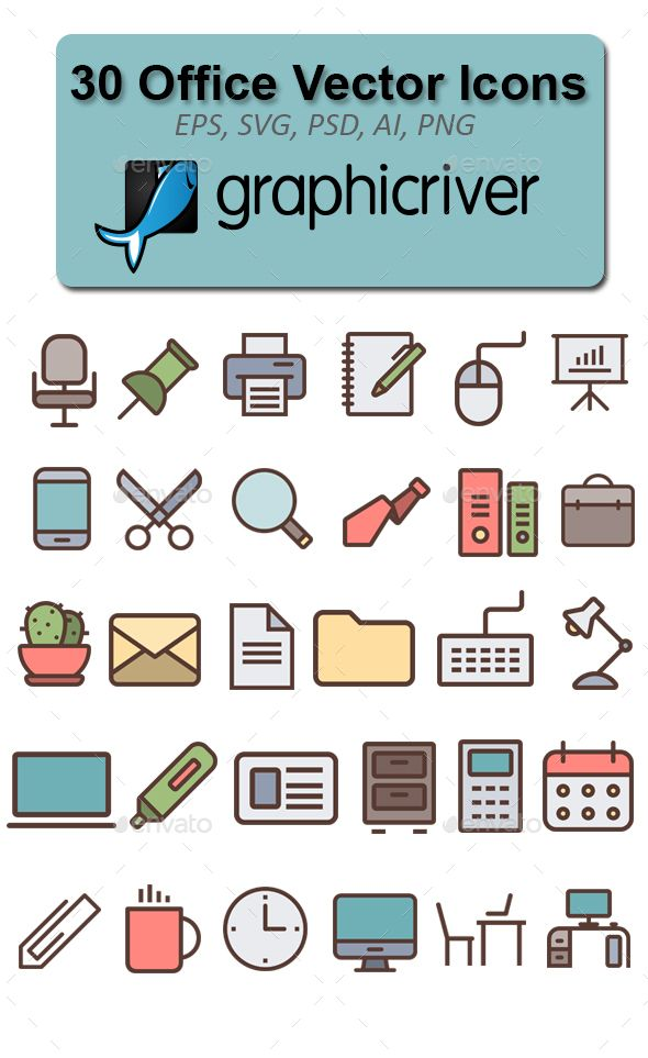 30 Office Vector Icons