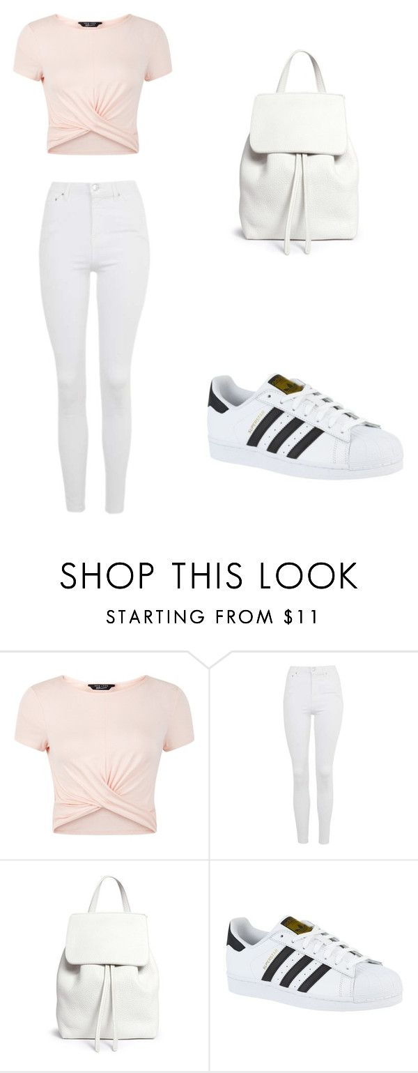 """""""Casual"""" by rhianna-alexandre on Polyvore featuring New Look, Topshop, Mansur Gavriel and adidas"""