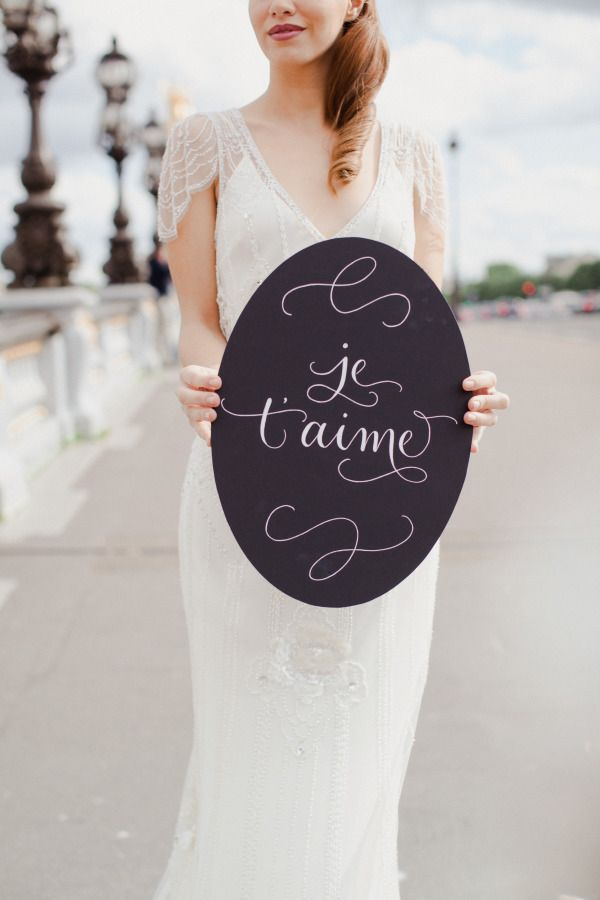 and Parisian Inspired Wedding Love Details  Romantic We Signage Details  Wedding balenciaga   velo