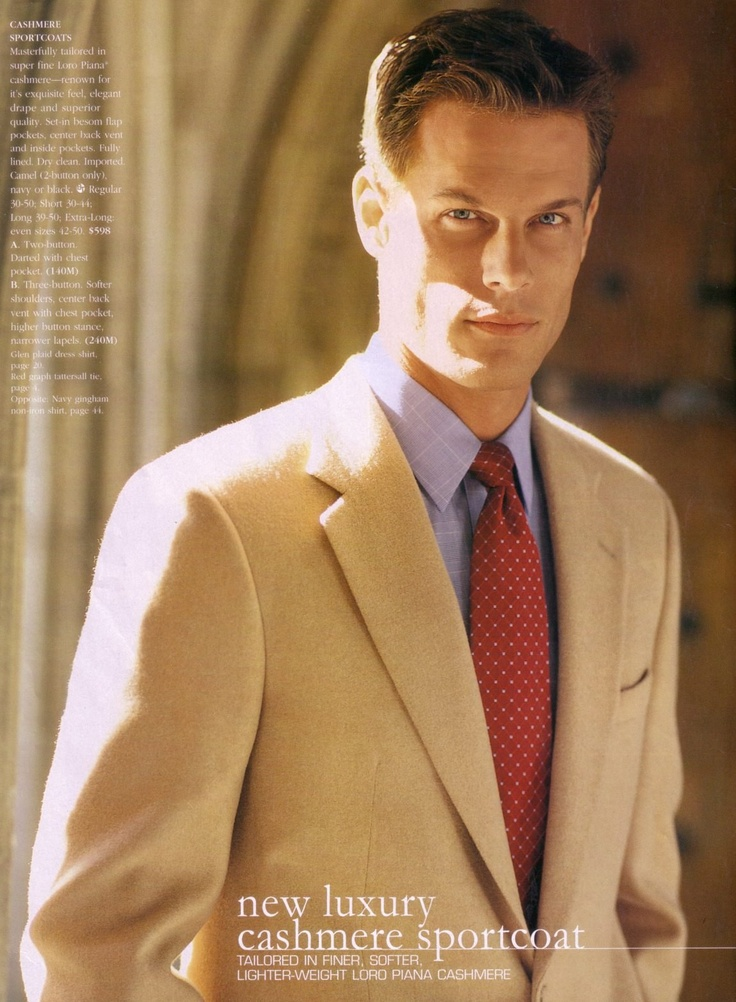 Brett Hollands by @Matt Albiani for @Brooks Brothers (Fall 2002) #BrettHollands #MattAlbiani #BrooksBrothers #BrooksBros #model #supermodel #Canadian #jacket #tie