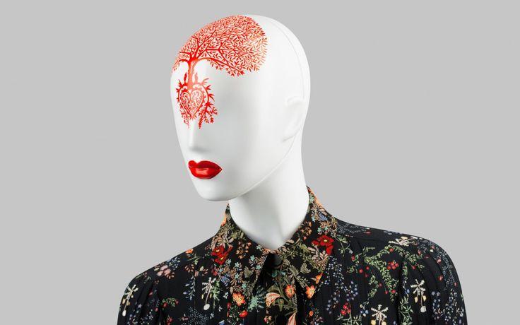 FUSION Collection by More Mannequins #FemaleMannequins #mask #illustration #flowerpattern #folk #art #collar
