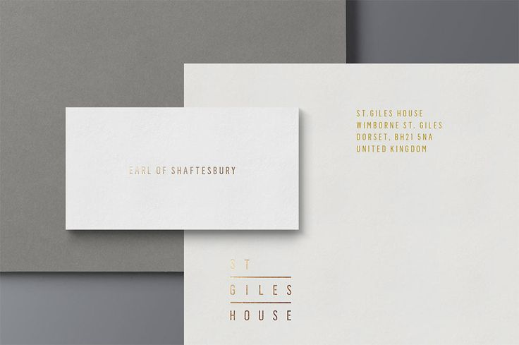 St Giles House identity