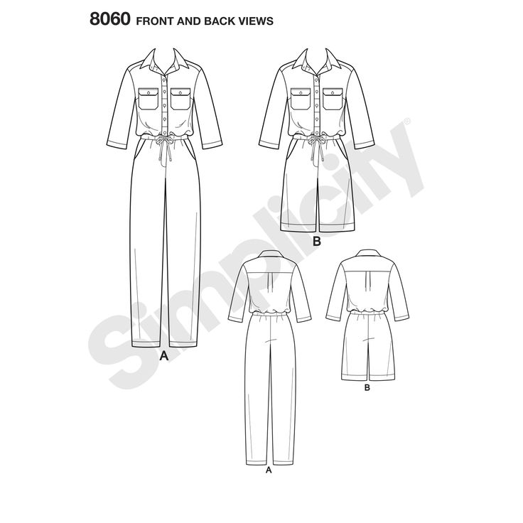 Simplicity 8060 - Jumpsuits from Mimi G. Construction video - https://www.youtube.com/watch?v=anTNK7nlZbQ