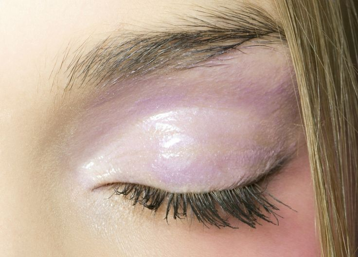 wet-look pastel eye makeup