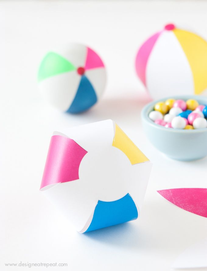 Printable Beach Ball Party Favors