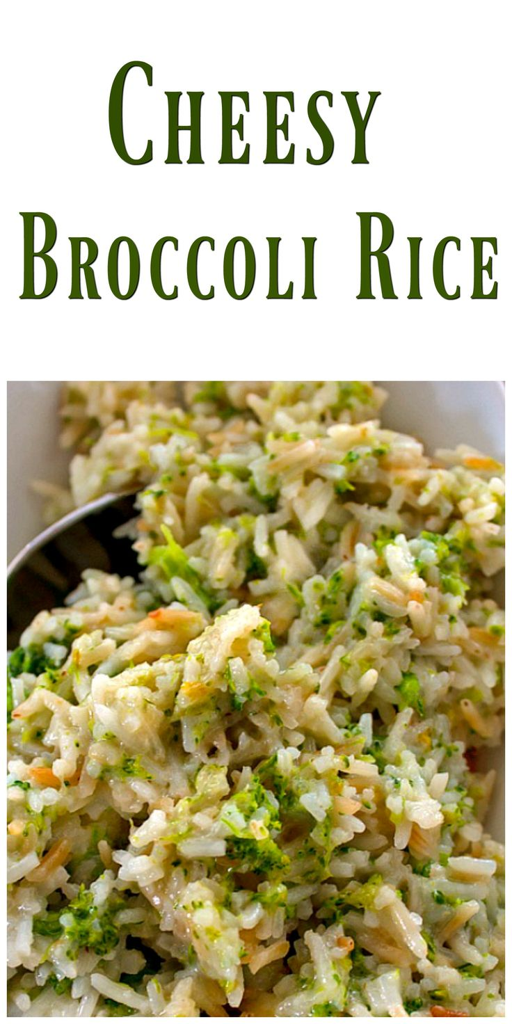 Cheesy Broccoli Rice  via…