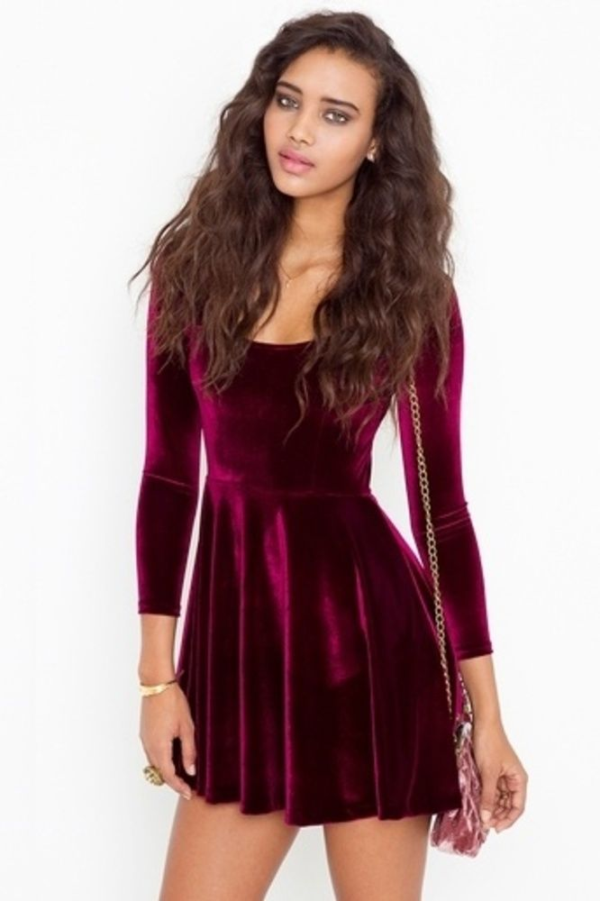 LVD Little Velvet Dress. Would be so cute with black tights and booties