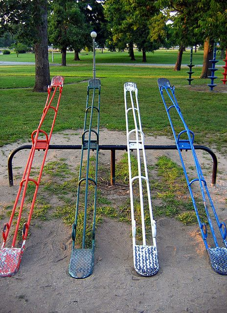 Vintage playground teeter-totters.  Photo by: Todd Franklin