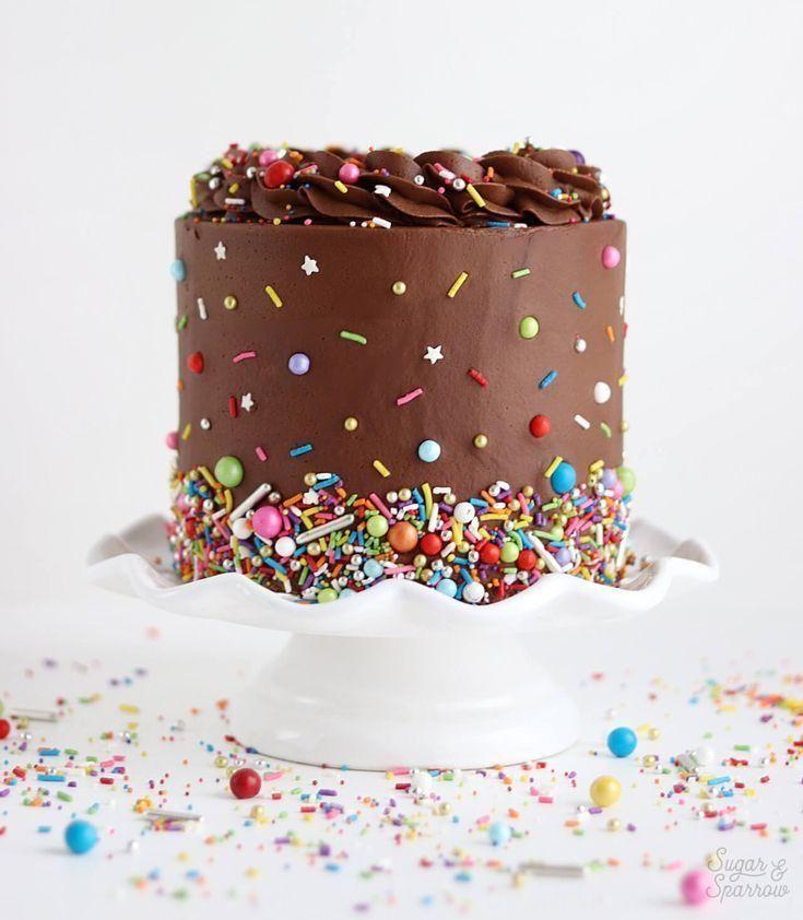 chocolate cake with chocolate buttercream recipe  – One way Ticket – #Buttercrea… – Chocalate Cake Recipes