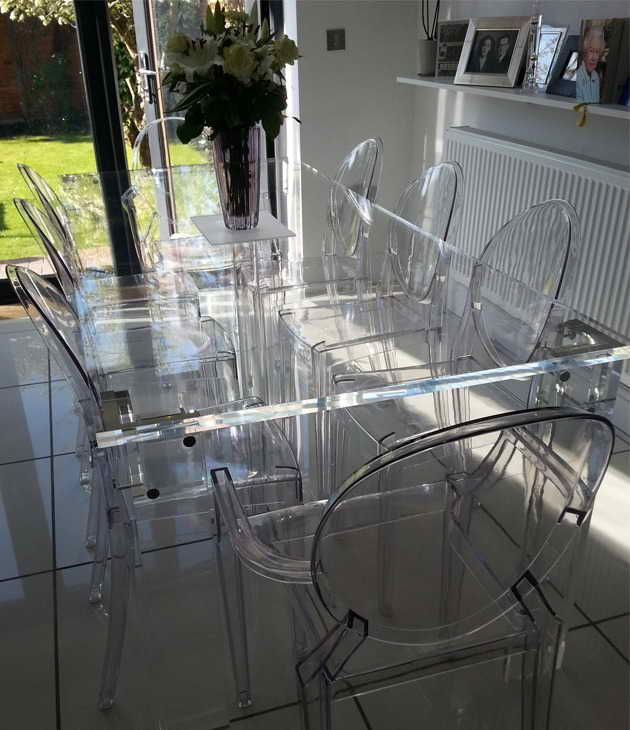 Clear Acrylic Dining Room Chairs Dining Table Setting Dining