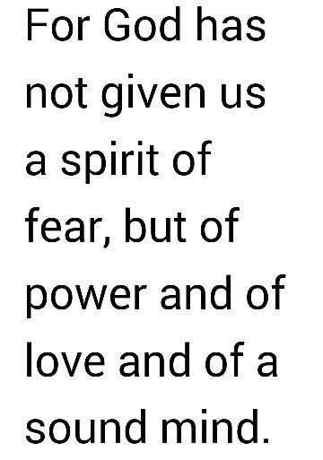 2 Timothy 1:7 (NKJV)