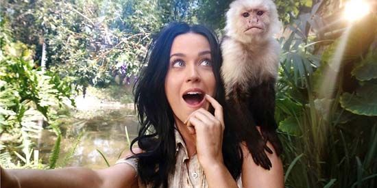 Katy Perry's self-shot taken with the Nokia Lumia 1020