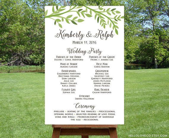 1000+ Ideas About Wedding Program Sign On Pinterest