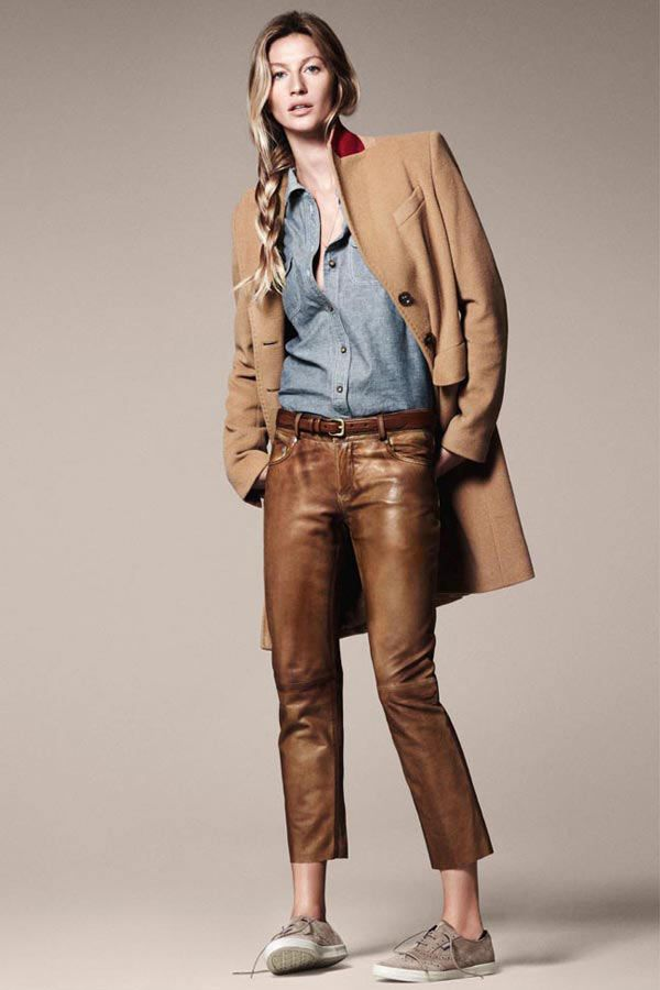 Gisele Bunchen for Esprit's A/W 2011-12Casual Style, David Sims, Chambray Shirts, Denim Shirts, Fashion Blogs, Gisele Bunchen, Leather Pants, Gisele Bundchen, Tans Leather