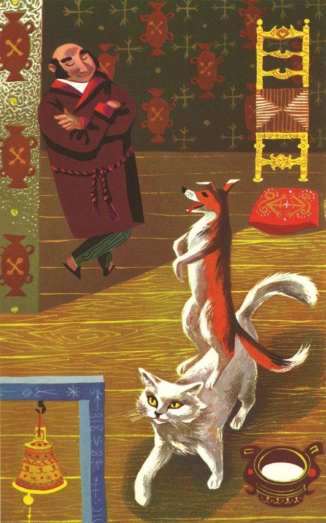 KASHTANKA anton Chekhov fantastic illustration William Stobbs