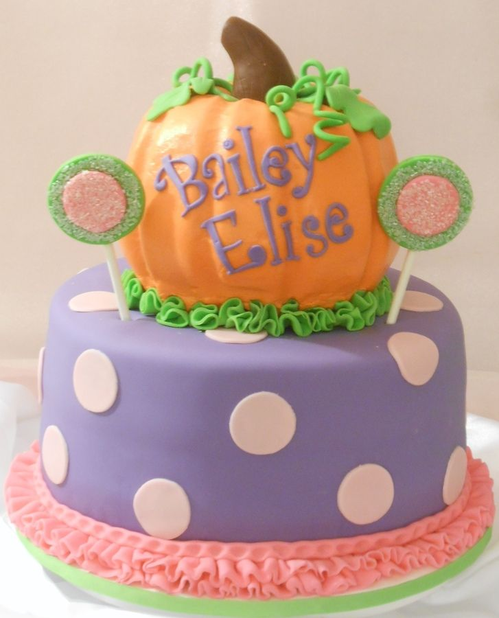 pumpkin birthday cake - Google Search