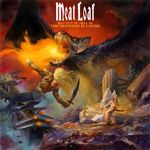 Title: Bat Out Of Hell III: The Monster is Loose [2006]. Band: Meat Loaf. Art design: Julie Bell.