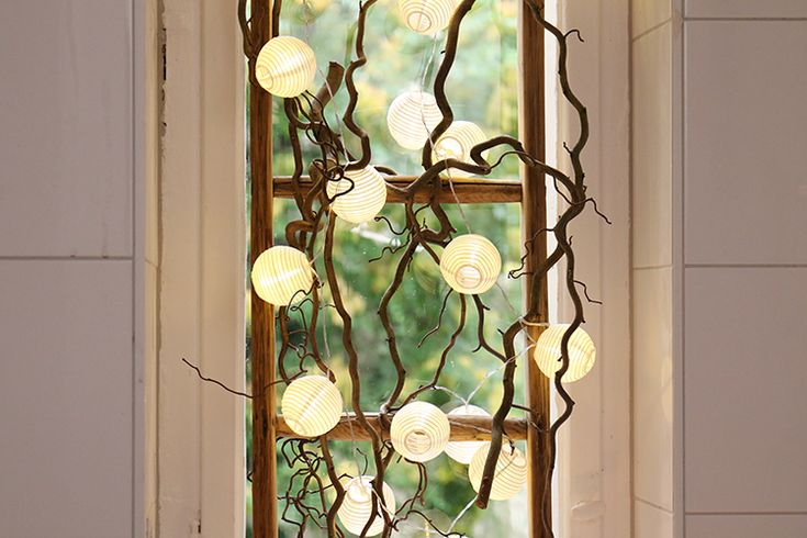 Gemütliches Licht im Bad und ein Sichtschutz vor dem Fenster? Kein Problem mit … – Basteln