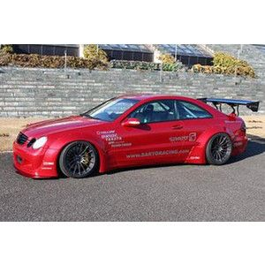 Sarto Racing Mercedes W209 CLK wide fender body kit.