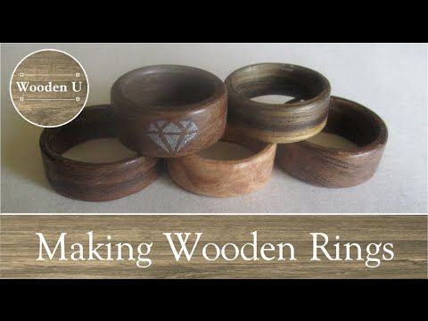 Wooden Ring from a Wood Shaving (thecrookednail) - YouTube