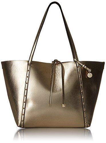 This is one of the best ladies fashion handbpags  as it is trendy, @stylish and functional.  Perfect for #Fall this #purse is super cool and would elevate any  outfit. Easily one of the top #handbags  for women this Autumn.       A|X Armani Exchange Metallic Medium Tote