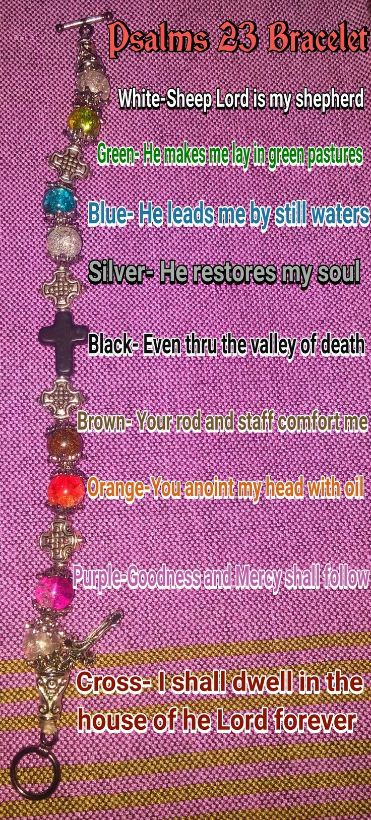 9 best ps 23 braclet images on Pinterest   Psalm 23, Jewellery ...