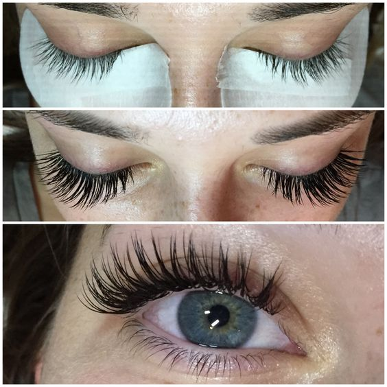 BEAUTIFUL EYELASH EXTENSIONS - BEFORE AND AFTER